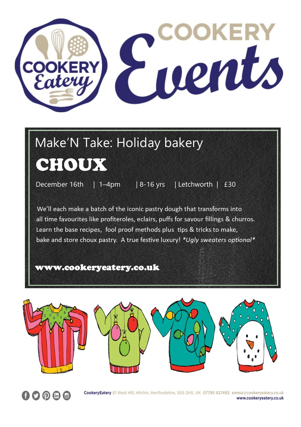 CookeryEatery.MAKE N TAKE. Holiday Bakery.CHOUX.Dec17.jpg