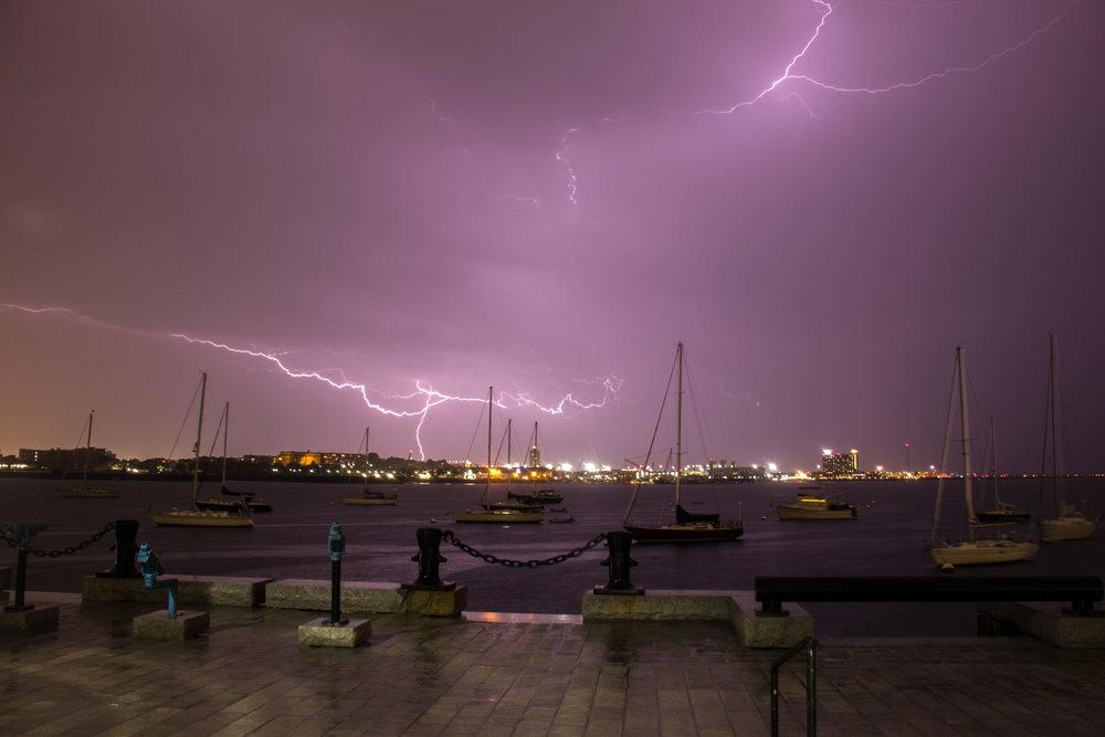 Lightning Over Long Wharf