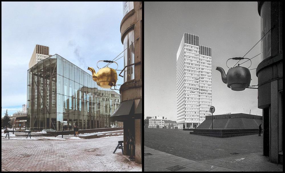 Government Center Boston, MA. (2018 & 1968)