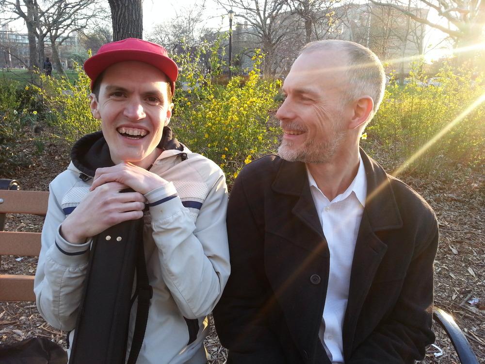 Craig Shepard (L) with mentee Jonathan Ackerley (R)