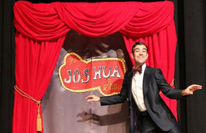 The Joshua Show - How do you cheer up when life gets you down? What does it mean to be yourself? When Mr. Nicholas, the sock puppet, makes an unnerving self-discovery that causes him to spiral down a path of loneliness and despair, his soul mate Joshua teaches him to celebrate his differences in this quirky show full of songs, comedy, whimsy, abundant joy, and just a smattering of tap dancing. joshuashow.com