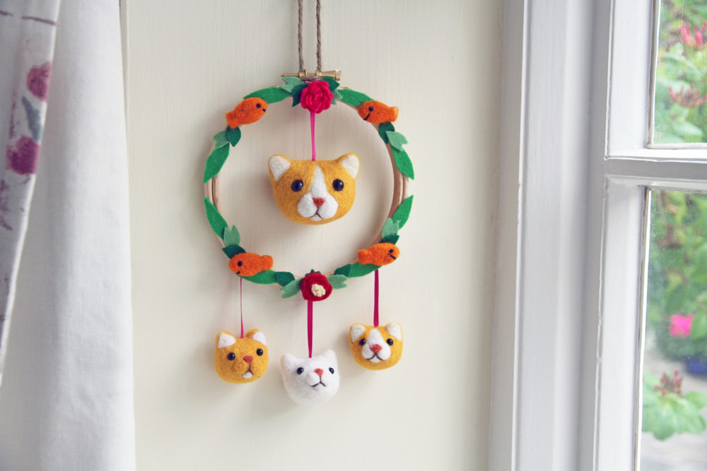 Mini Cat Mobile, perfect to brighten up any home!