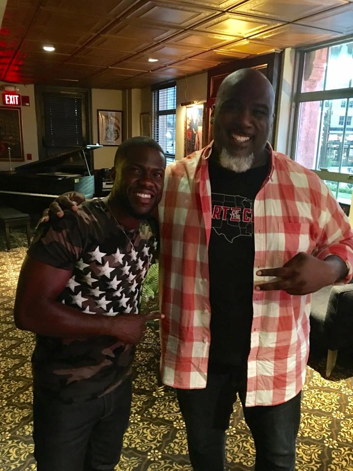"Mike Geeter with Kevin Hart after shooting a comedy spot for #KevinHart as Kevins ""Hart of the City Comedy tour"" stopped in Detroit August 2017. Episode airing on Comedy Central fall 2017. http://www.cc.com/shows/hart-of-the-city"