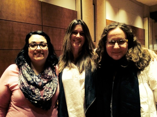 Impact Producer Erin Sorenson (center) with   one of the film's subjects, teacher Maria Rivera (left) and director Anne de Mare (right) after the event!