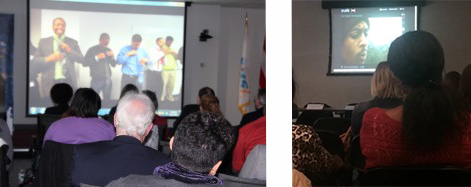 Watching the film's simultaneous screenings in HHS Region 3, Philadelphia and HHS Region 2, New York City