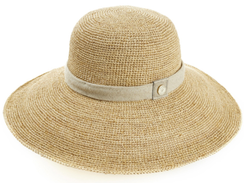 As I'm quite fair skinned, I swear by Heidi Klein's Havana wide brim raffia hat to protect my face from harmful rays. It's probably my most important beach essential and I'll wear it all day when relaxing by the sea. To keep the shape while travelling, I pack around it and slot rolled-up lingerie and bikinis inside. If it's crumpled at the other end, I'll steam it over a kettle for a moment to get the form back.