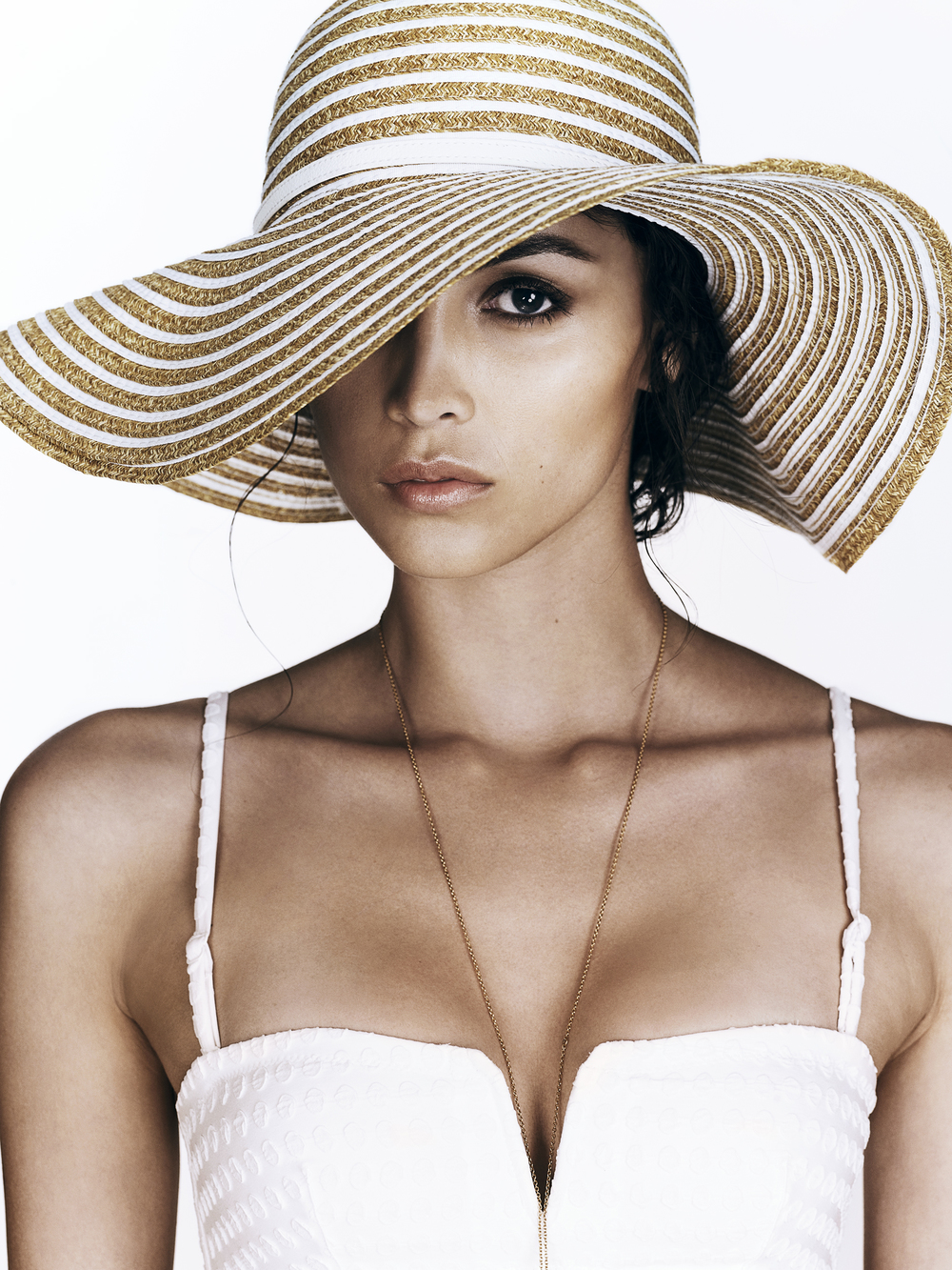 Bikini Top - Princesse Tam Tam | Necklace - Layana London | Hat - Melissa Odabash