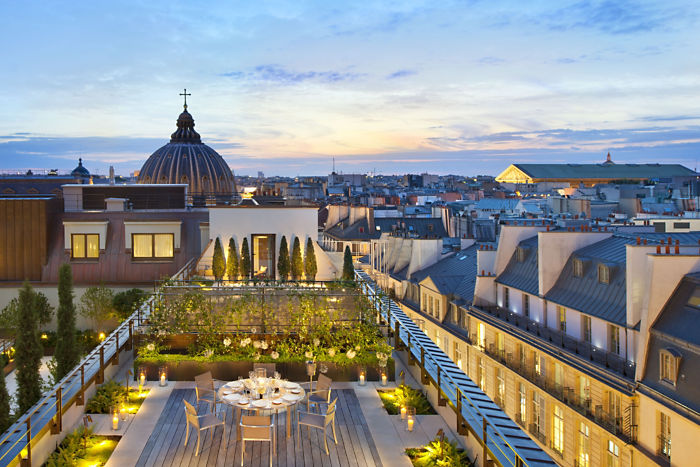 Discover & Escape Mandarin Oriental Paris Review 2014 Rooftop