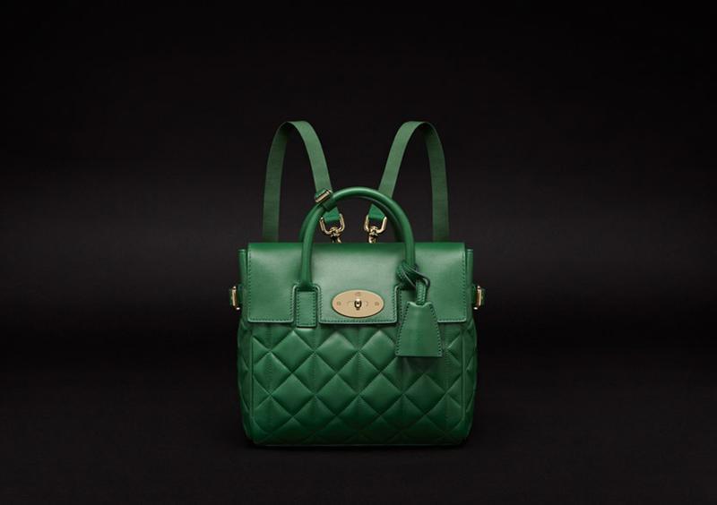 Cara Delevingne Bag in Delevingne Green Quilted Nappa 2.jpg