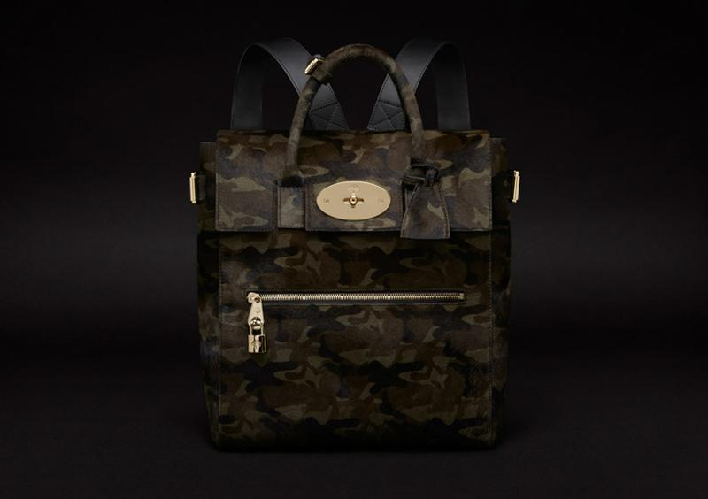 Large Cara Delevingne Bag in Khaki Camouflage Haircalf2.jpg