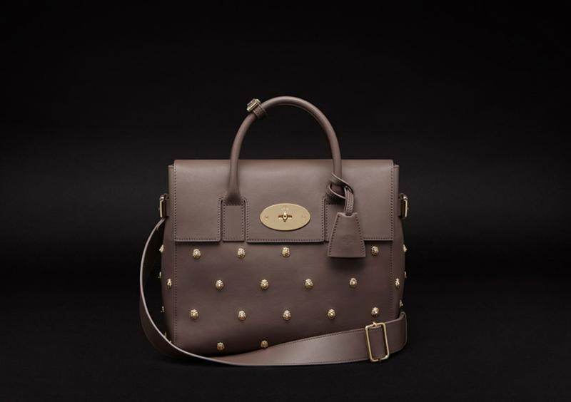 Limited Edition Cara Delevingne Bag in Taupe Silky Classic Calf with Lion Rivets.jpg