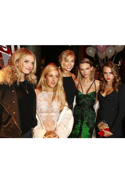Lily Donaldson, Ellie Goulding, Karlie Kloss, Taylor Swift & Cara Delevingne