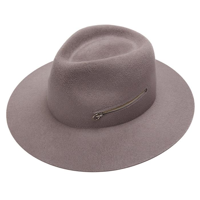 Larose Grey Zip Fedora