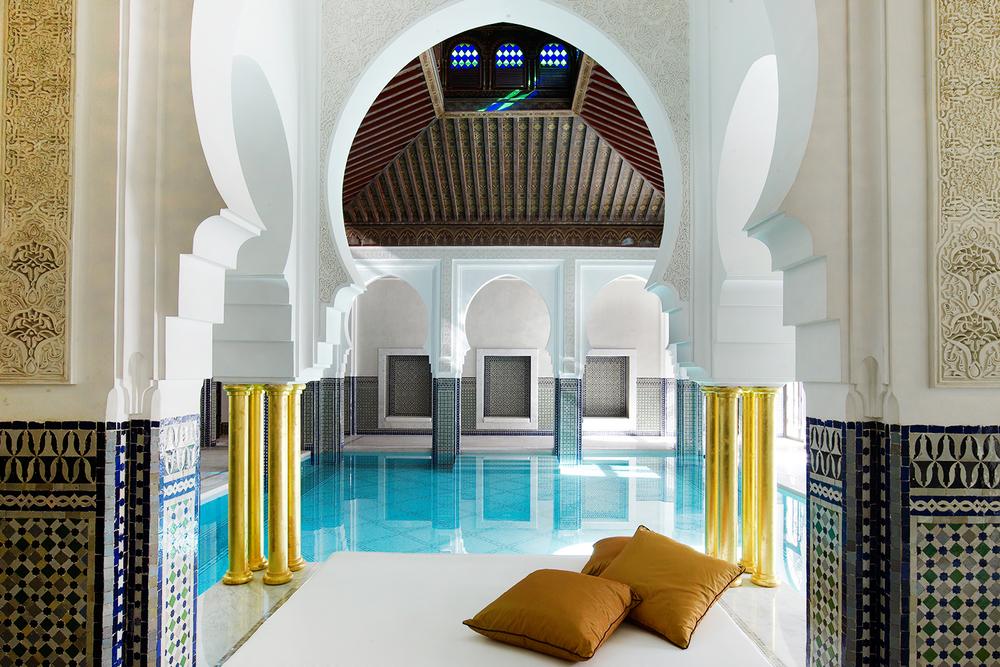 La Mamounia Marrakech Spa Pool Hammam 2015