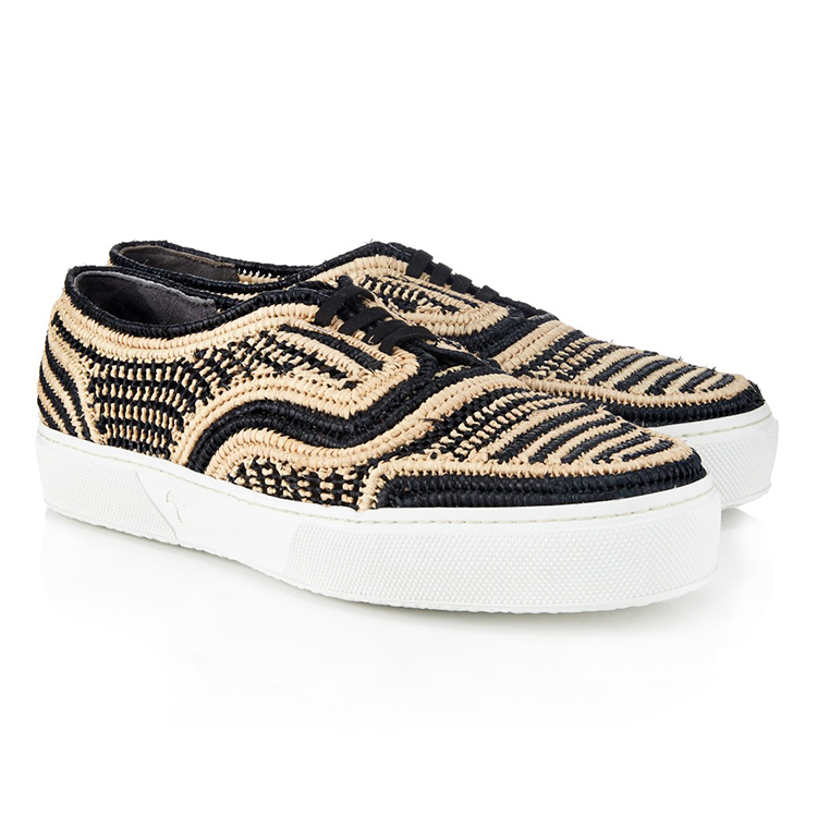 Robert Clergerie Teba raffia sneakers