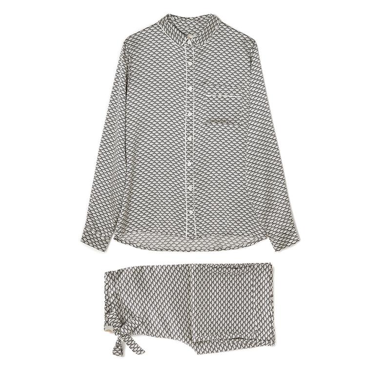 Yolke Clementine Snow Silk Pyjamas