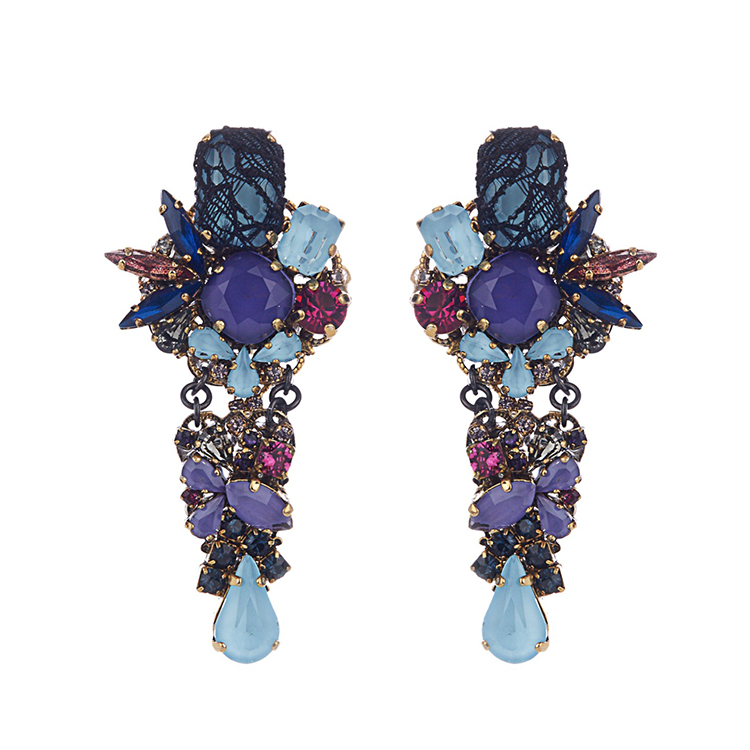 Erickson Beamon Ripple Cascade Earrings