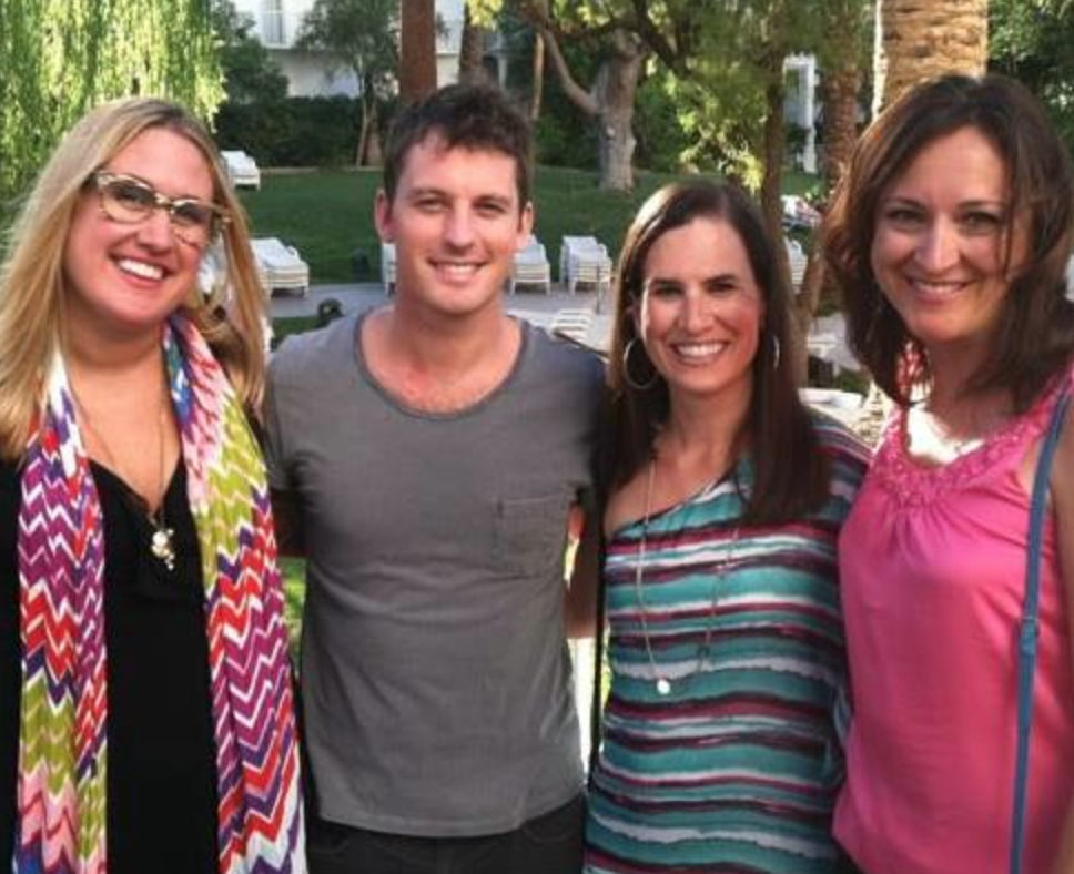 "It's ""tree"" ladies for the price of one! Annie, Julie, and Jackie with Our Pro Tristan MacManus in June 2012."