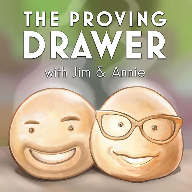 "My secret podcast with fellow half-baked dough ball @jambajim is liiiiiiive on iTunes! Watch The Great British Baking Show Fridays on PBS, then catch our wafts of nonsense about it at your ""LEH-zhure"". Link in bio."
