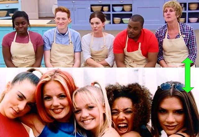 Thoroughly schooled @jambajim on which baker would be which Spice Girl during this week's #PBSBakingShow podcast. 🥐🎤theprovingdrawer.com ✨