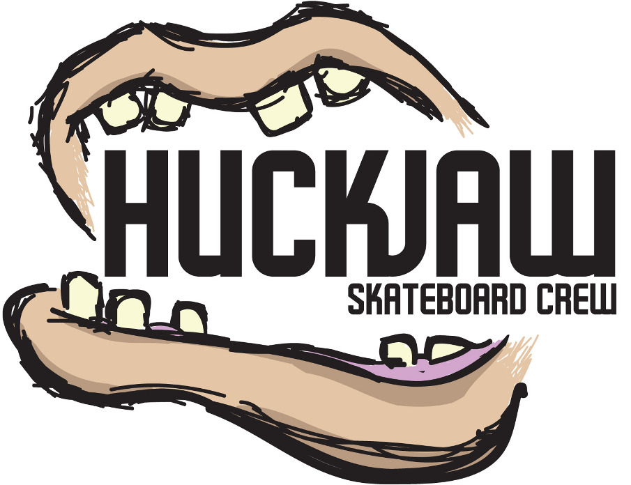 I designed this logo for a skateboard crew, my team SimpleSociety did for a creative video.   HuckJaw