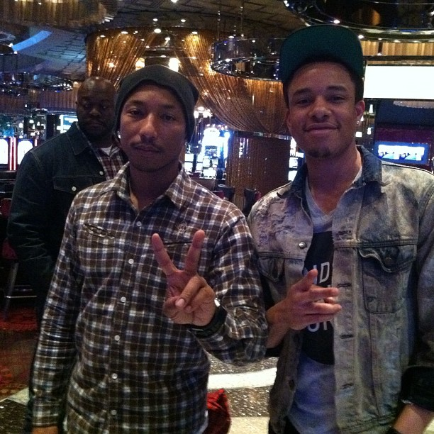 I met  @Pharrell  in Las Vegas at the  @Cosmopolitan_LV  during MAGIC. He was in attendance of his Billionaire Boys Club Event!