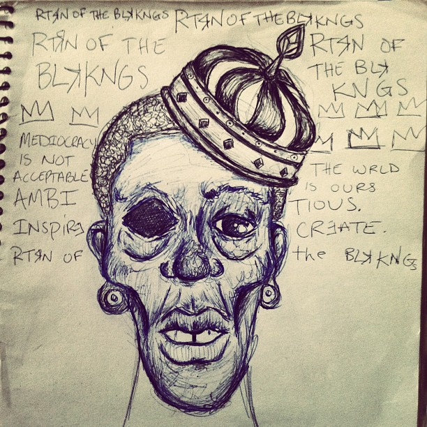 RtrnofBlkKngs; ink sketch (Taken with  instagram )