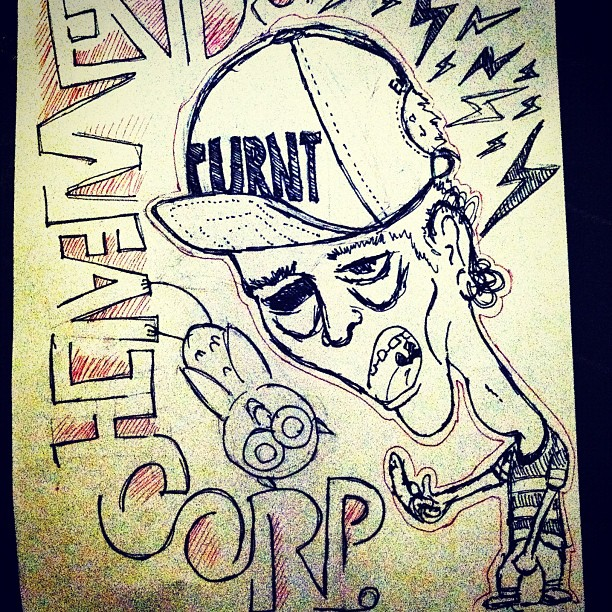 #TURNT #snapbacks available @endswealthcorp. Visit EndsWealthCorp.com. #art #ink #turntup (Taken with  Instagram )  http://shop.endswealthcorp.com/collections/hats/products/turnt-hat