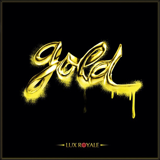 Mix tape cover #design I did for Lux Royale #gold