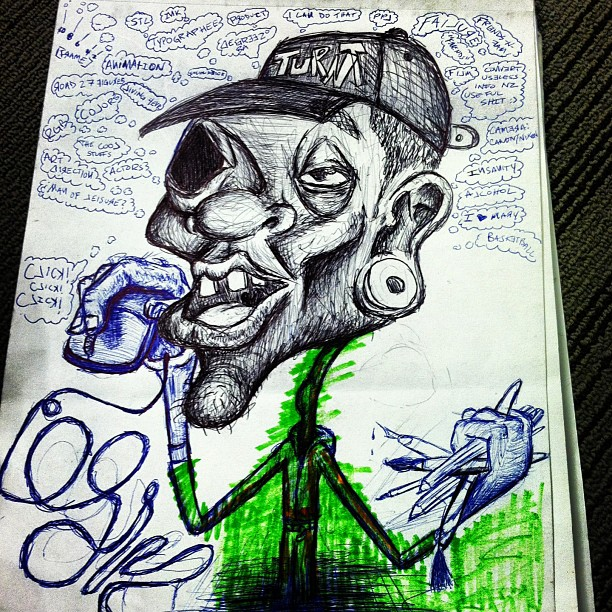 """Turning useless info N2 somethin that they can use.    """"They don't know how insanity feel""""   #art #ink #turnt R27F.com"""