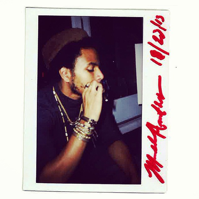 Chillin in the studio with my dude Michael Anthony   @makinitclassic of THEMPeople.   Listen @ Soundcloud.com/thempeoplemusic   #music #photography #polaroid
