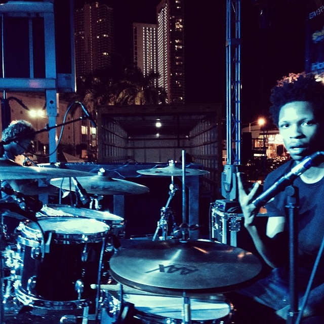 STIIX KID.     #Artbaselmiami2013 #socialexperimenttour #drums