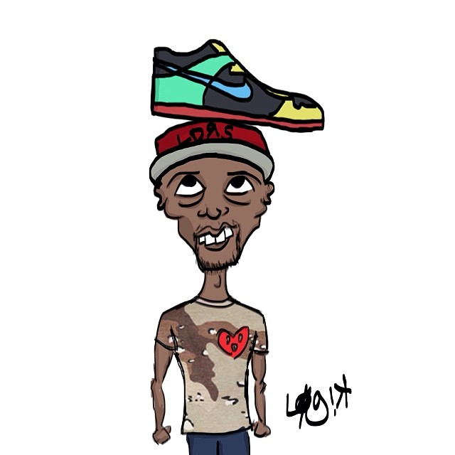 Illustration of @Johnnie Fresh.   FreshConnectionBrand.com  #streetfashion #illustration #art #chicago