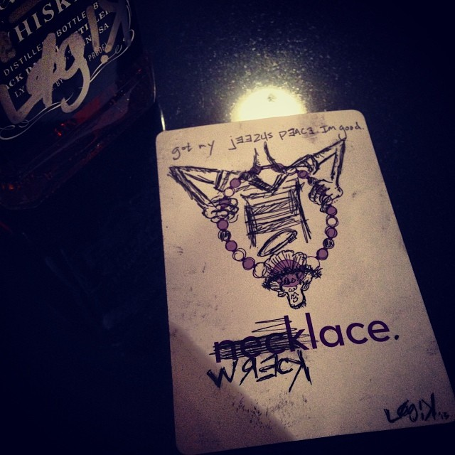 I got my jeezus peace. I'm good.   #art #ink #thirstythursday R27F.com