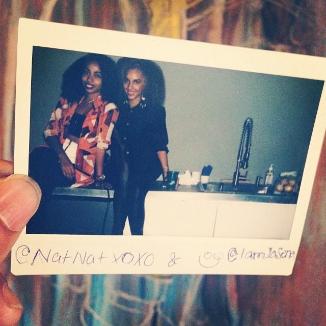 50/50.   The lovely ladies @natnatxoxo & @iamjasena at #artbaselmiami2013