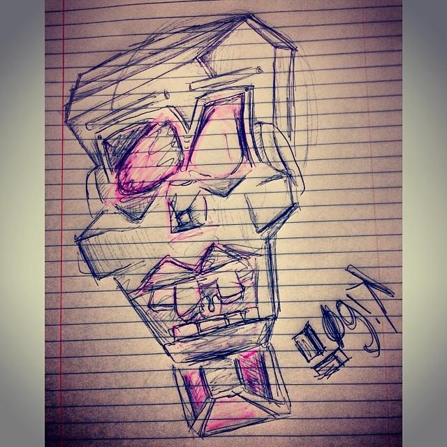 Ye not crazy bro.   #art #ink #highlighter