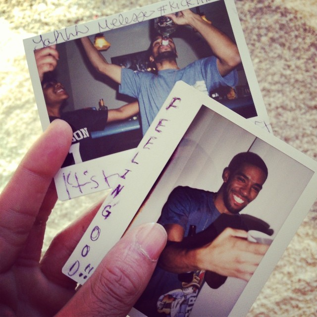 "My brother @_kwame_ turned 25. He hit me up talmbout ""how the party end last night?""   #family #stl #polaroidphotography"