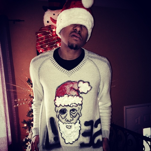 "Merry Christmas Tumblr family.   #santaclaus #art #uglysweater - ""lies"""
