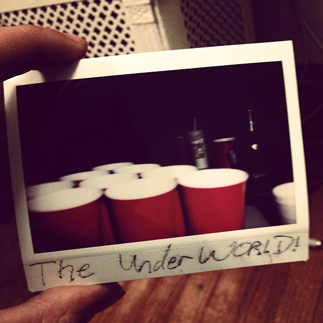 Ya'll too cool for this now? Or nah?   Somewhere in #MIZZOU. #beerpong #college #polaroid