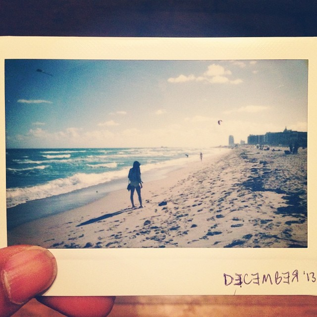 Missing this. Missing that. They can have this snow back.   #miami #polaroids #artbaselmiami2013 #tbt