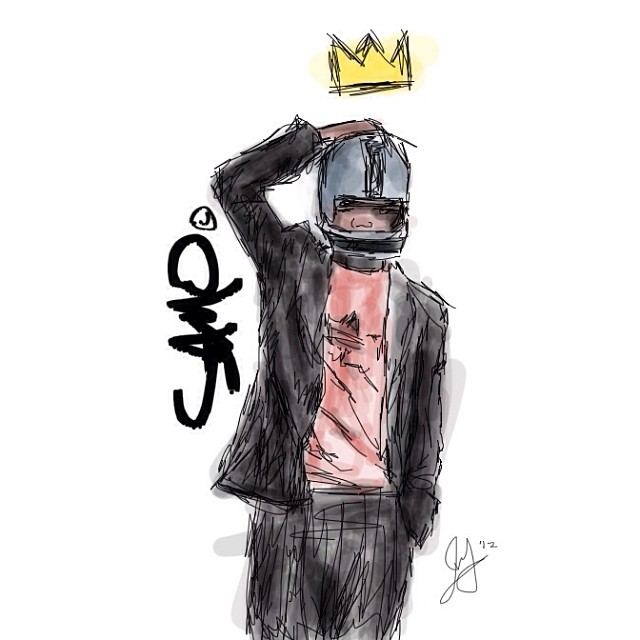 """SAMO© knew better."" #illustration I did of Jean Michel Basquiat #inspiration #art #king"