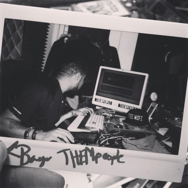 Studio-life with the homie, @lboogiethem producer w/ #THEMpeoplemusic   #tbt #music ##polaroids