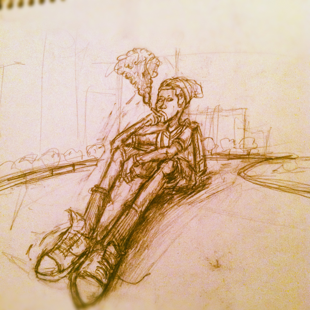 Illustrating the 2nd scene of my #animation for class. #sketch #art