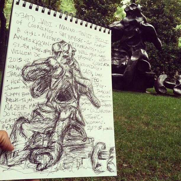 Sketching in #NasherSculptureCenter #Art
