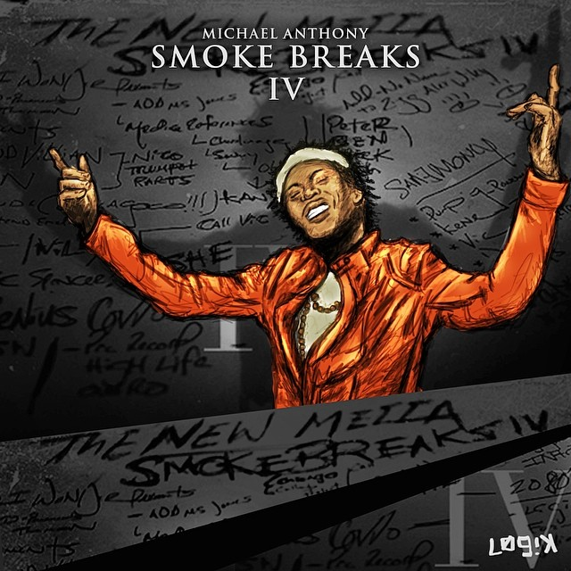 "Illustration I did of my bro Michael Anthony of THEM People. They just dropped a taped titled ""Smoke Breaks IV""   Dude is mad talented.   Listen: soundcloud.com/thempeoplemusic   #art #music #chicago #IV"
