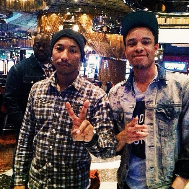 @Pharrell & I in Vegas circa 2012.   #vscocam