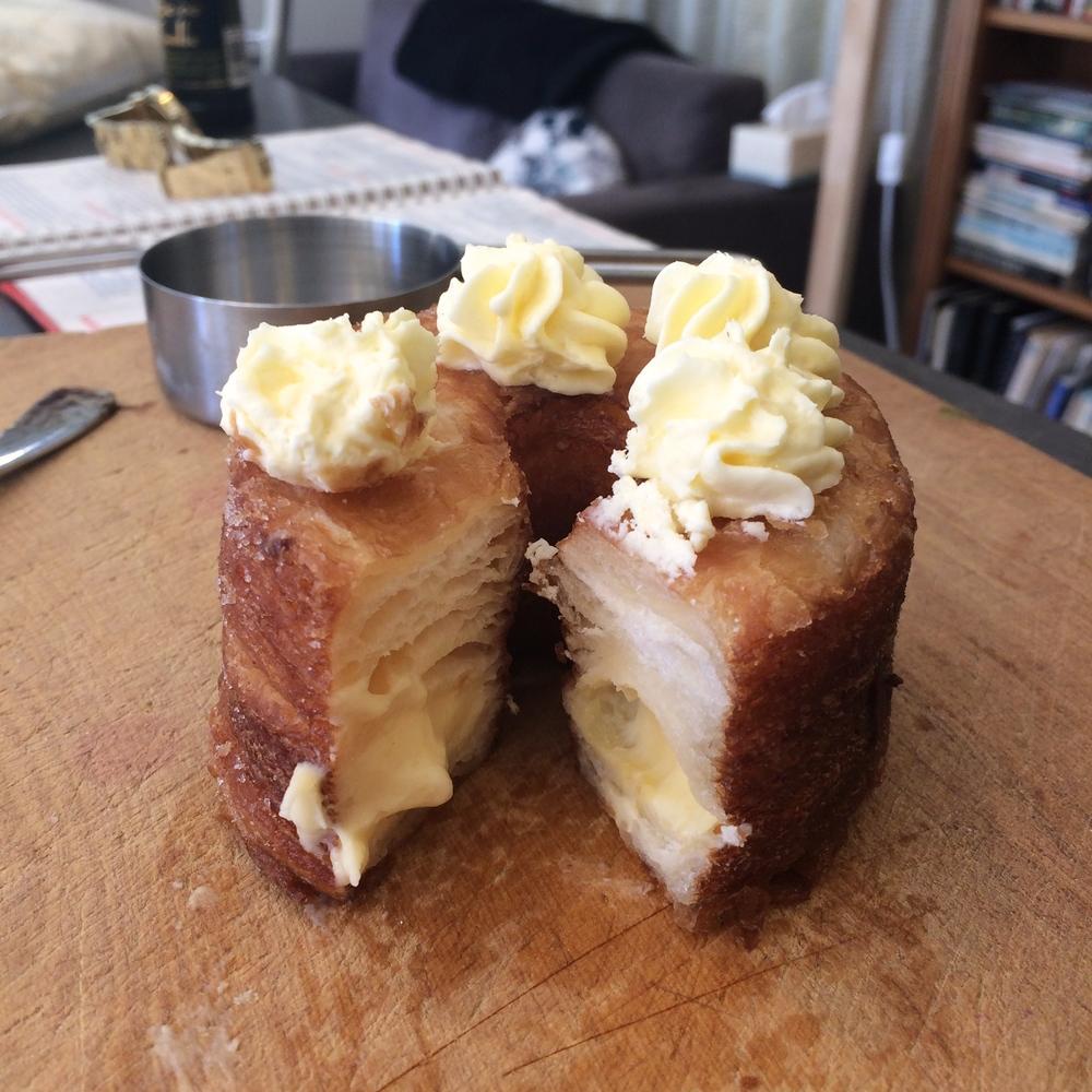 The lemon and cream cheese cronut we bought Mum.