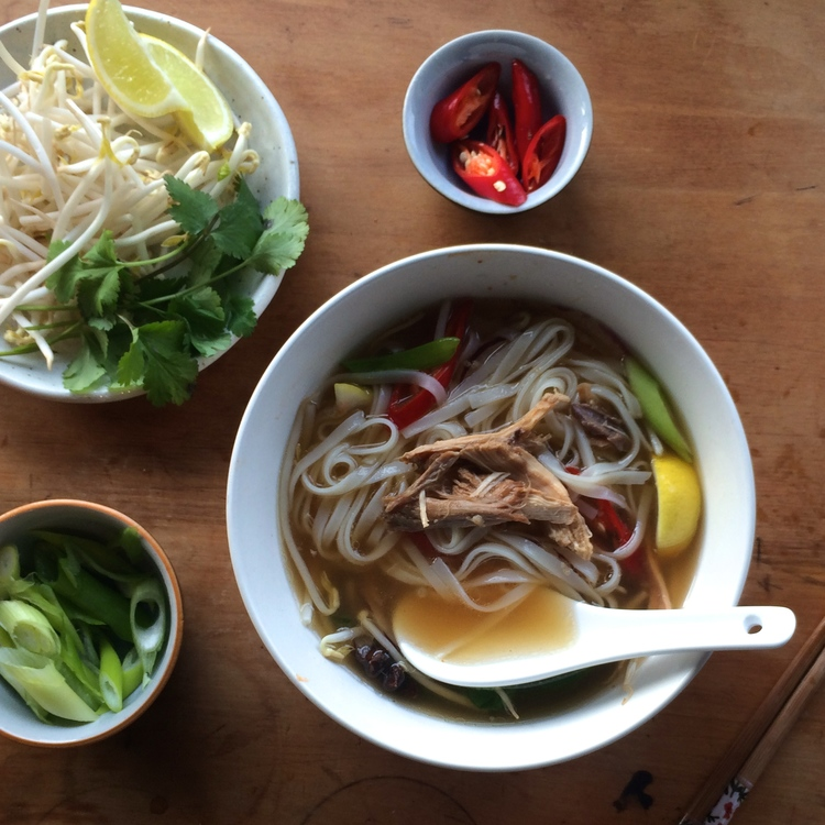 vietnamese noodle soup Easy vegetarian pho - a simple take on the classic vietnamese noodle soup vegan and gluten free.
