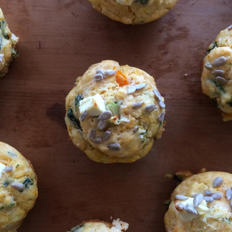 Pumpkin, Spinach and Feta Muffin Recipe - M2woman