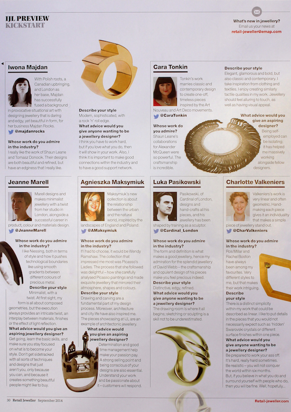 Retail Jeweller, September 2014